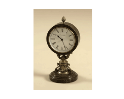 Antique-Brass-Table-Top-Clock-with-Dark-Snakeskin-Stone-Base-and-Casing