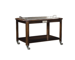 Hotel-Trolley-Serving-Cart-with-Silver-Tray